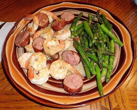shrimp and kielbasa